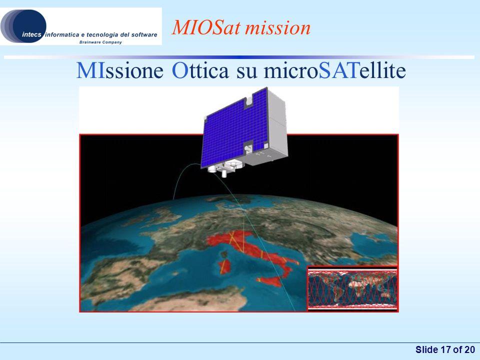 Slide 17 of 20 MIOSat mission MIssione Ottica su microSATellite