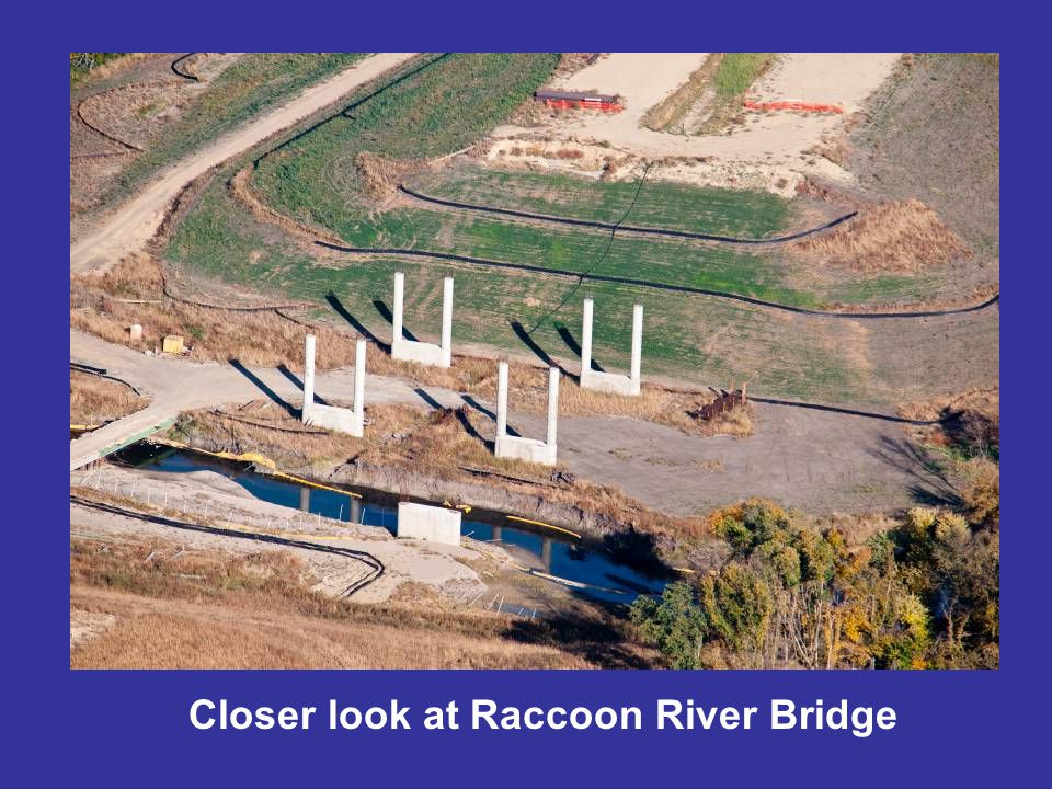Closer look at Raccoon River Bridge