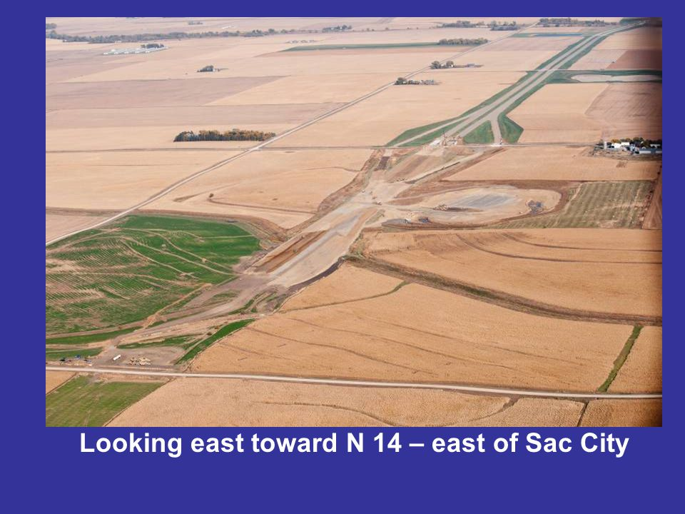 Looking east toward N 14 – east of Sac City