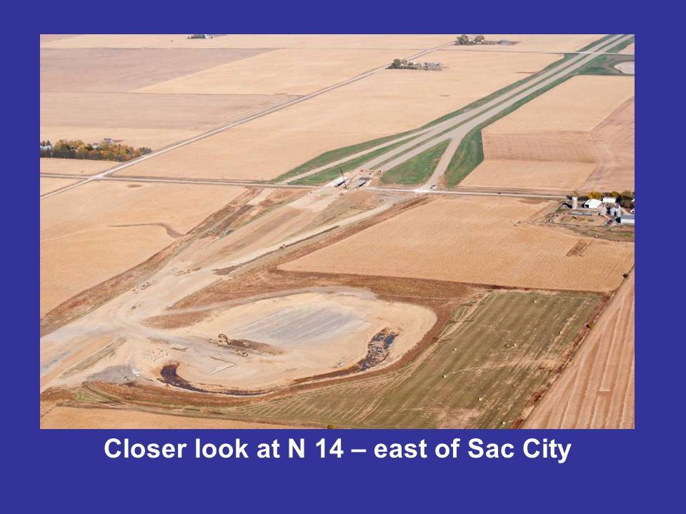 Closer look at N 14 – east of Sac City
