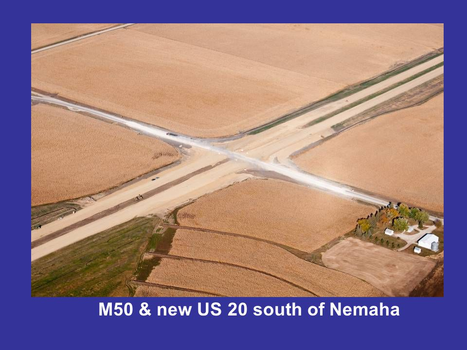 M50 & new US 20 south of Nemaha