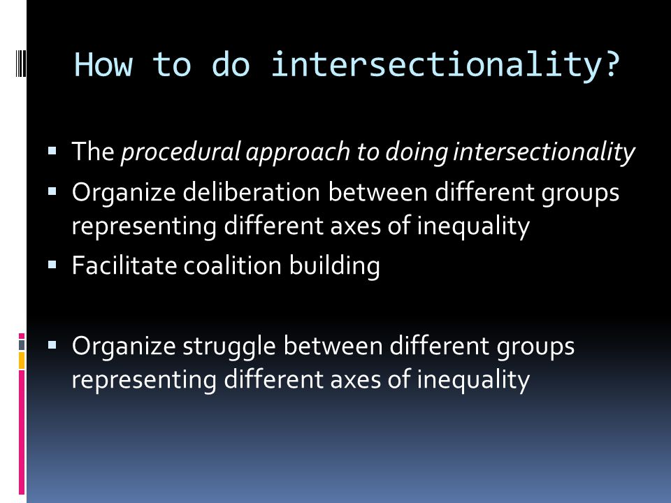 How to do intersectionality.
