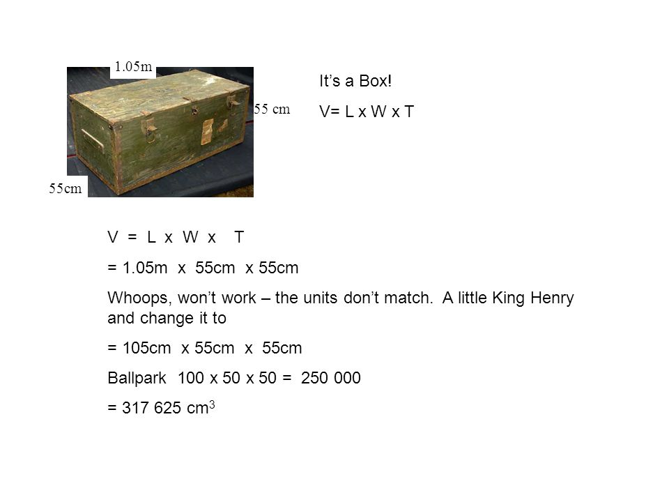 1.05m 55cm It's a Box.