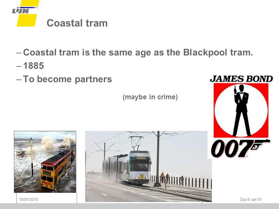 Coastal tram –Coastal tram is the same age as the Blackpool tram.