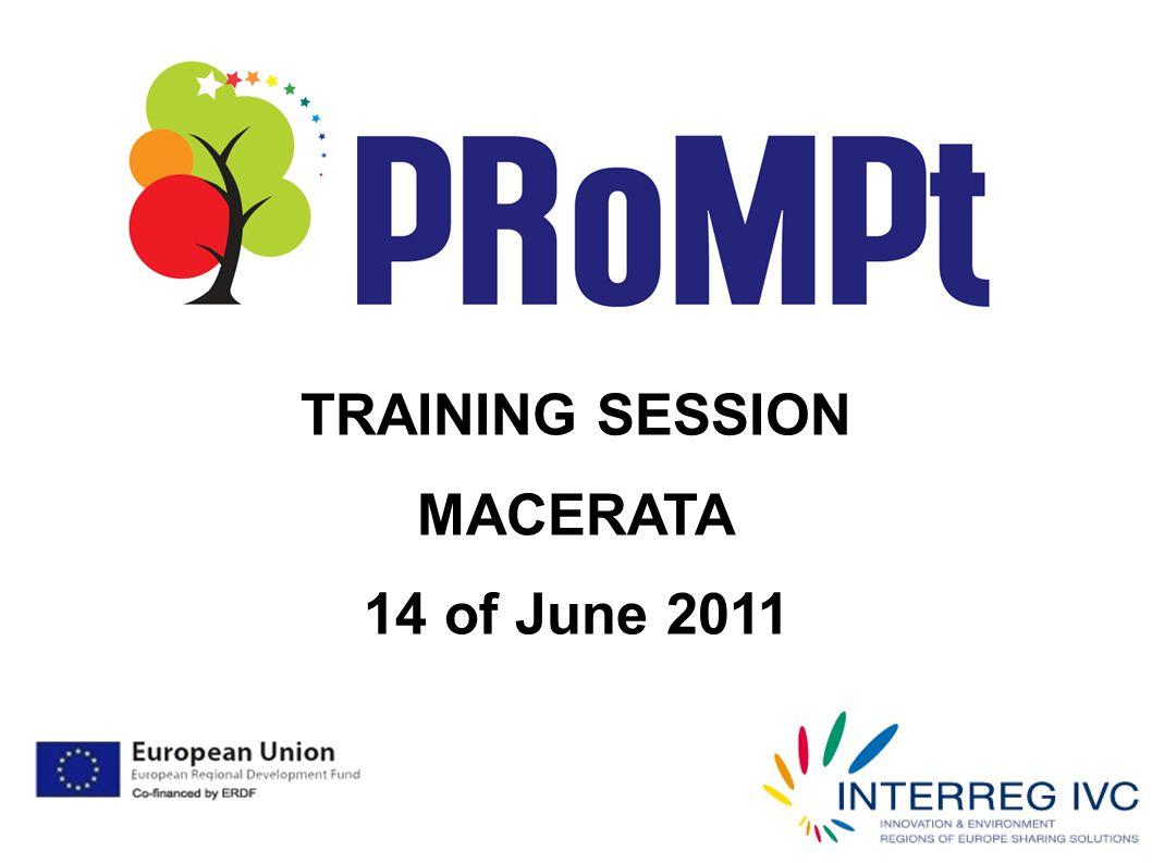 TRAINING SESSION MACERATA 14 of June 2011