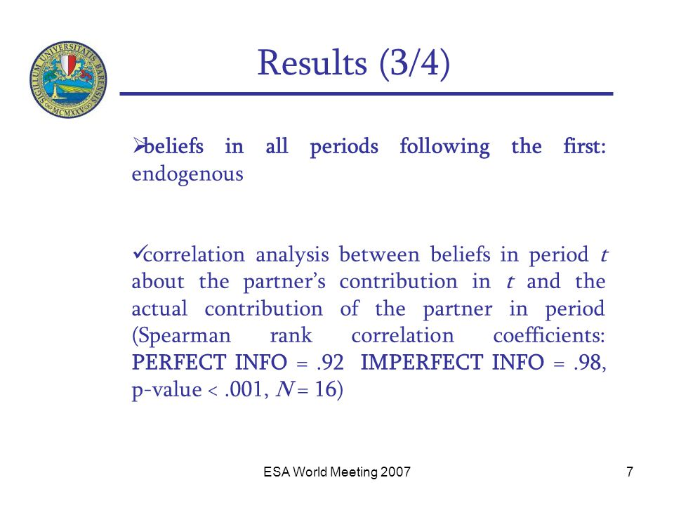 ESA World Meeting 20078 Relationship risk attitude/willingness to contribute (4/4)
