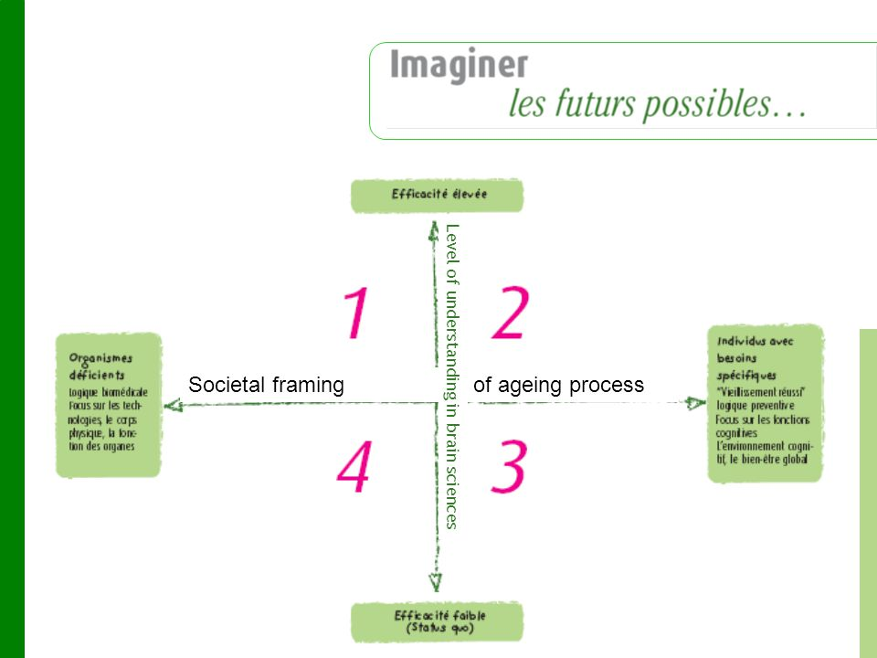 Societal framing of ageing process Level of understanding in brain sciences
