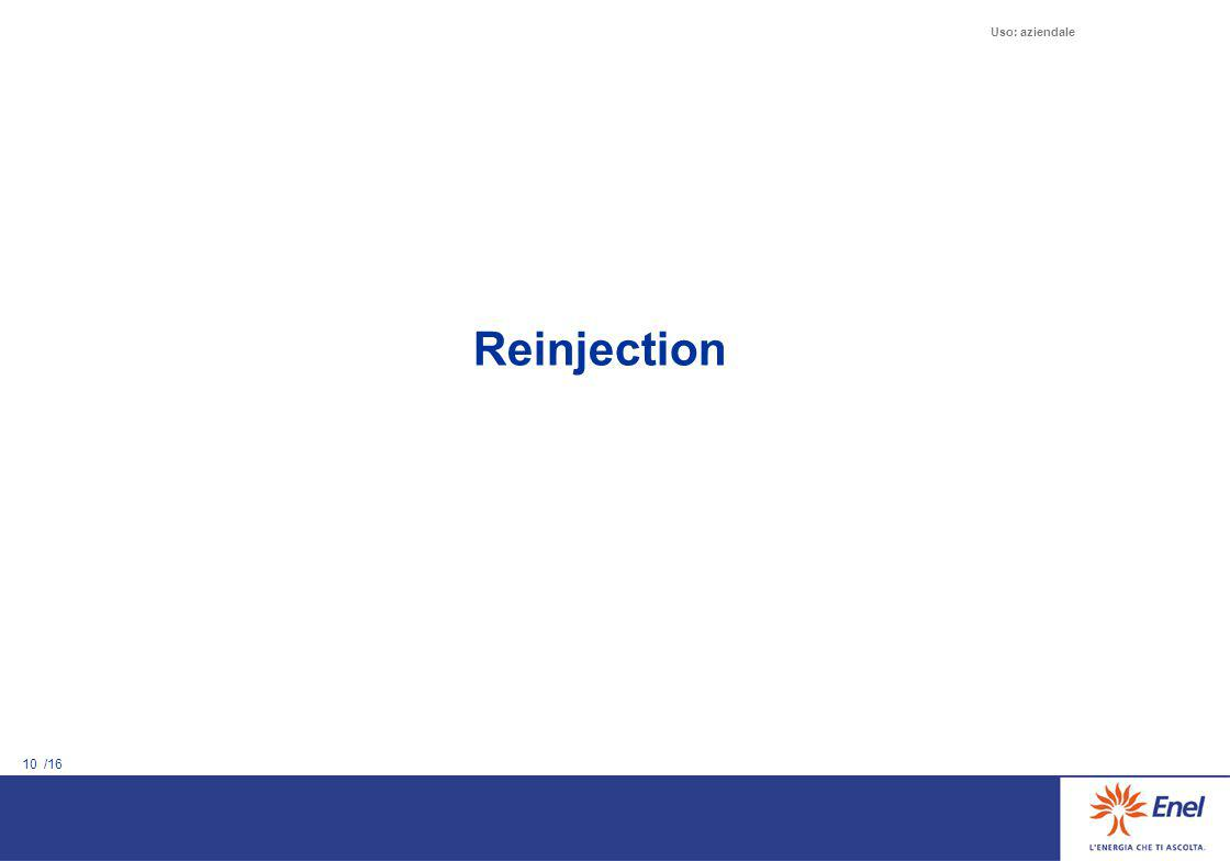 10 /16 Uso: aziendale Reinjection
