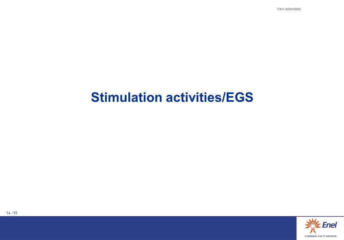 14 /16 Uso: aziendale Stimulation activities/EGS