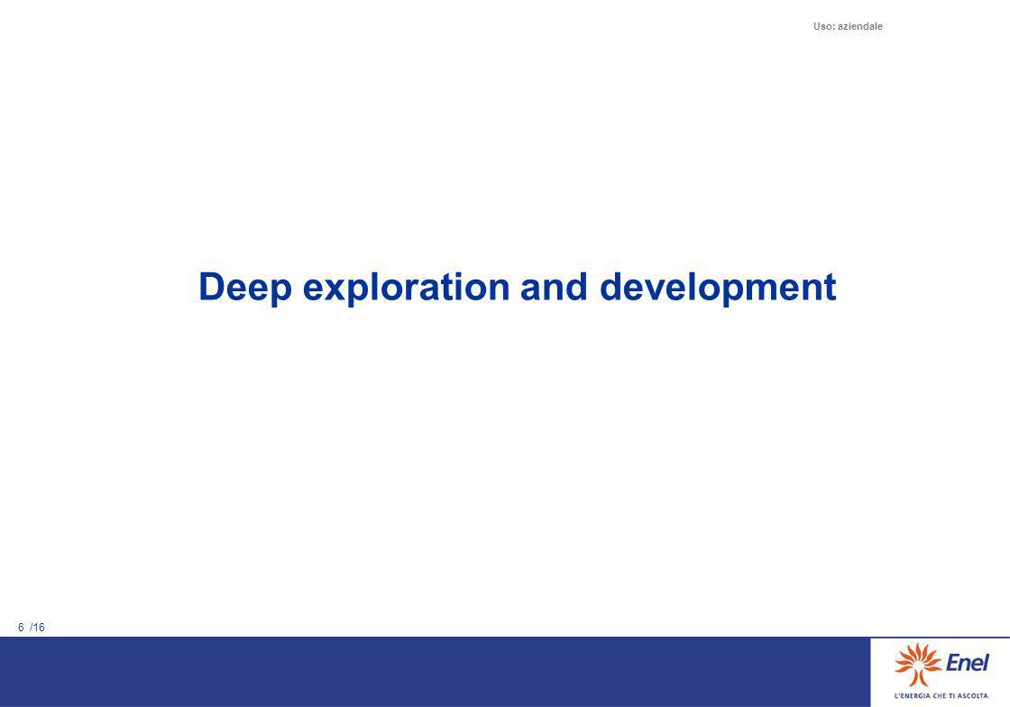 6 /16 Uso: aziendale Deep exploration and development