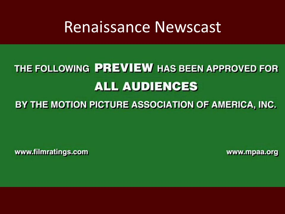Renaissance Newscast
