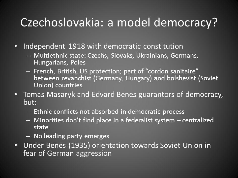 Czechoslovakia: a model democracy.