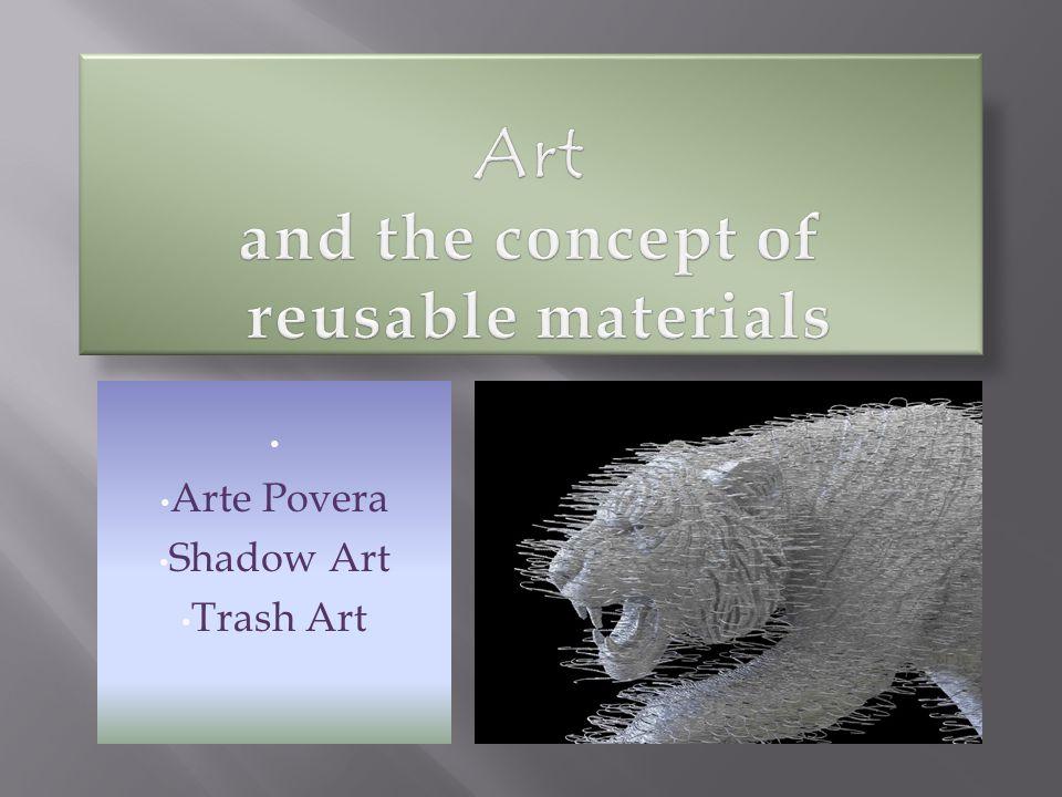 Arte Povera Shadow Art Trash Art