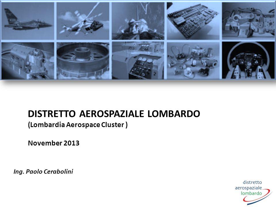 DISTRETTO AEROSPAZIALE LOMBARDO (Lombardia Aerospace Cluster ) November 2013 Ing. Paolo Cerabolini