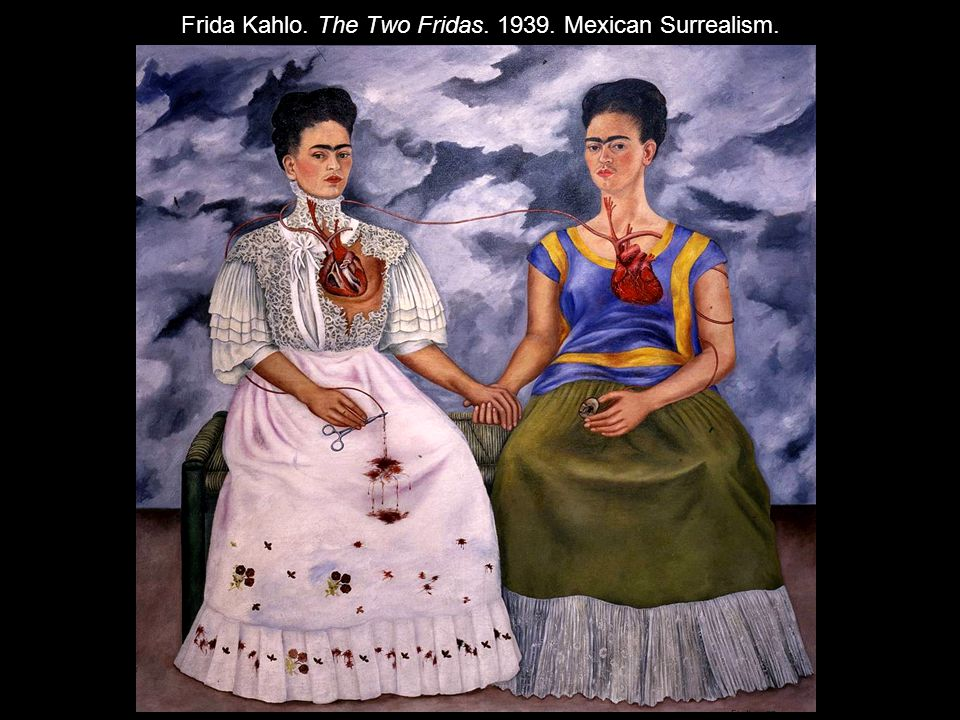 Frida Kahlo. The Two Fridas. 1939. Mexican Surrealism.