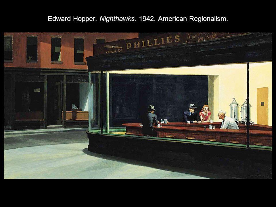 Edward Hopper. Nighthawks. 1942. American Regionalism.