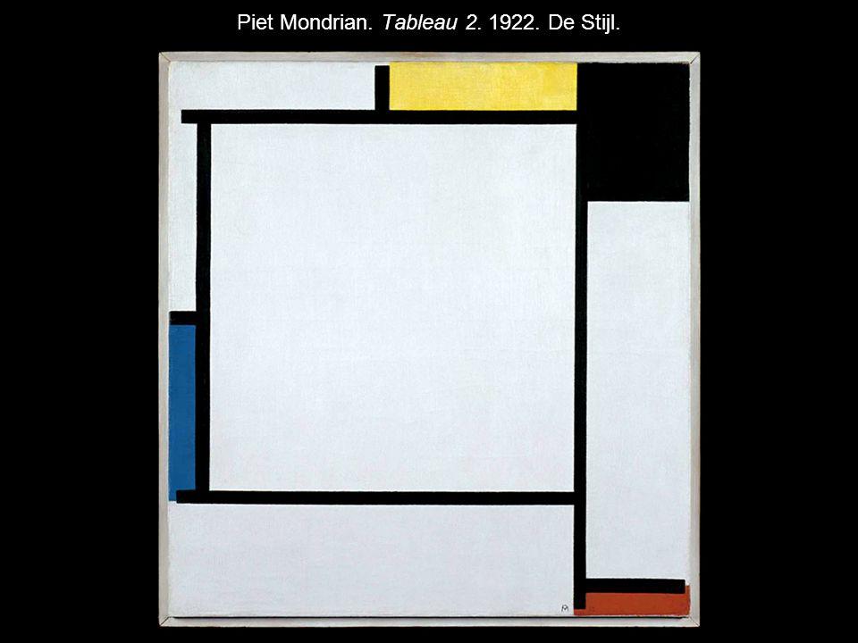 Piet Mondrian. Tableau 2. 1922. De Stijl.