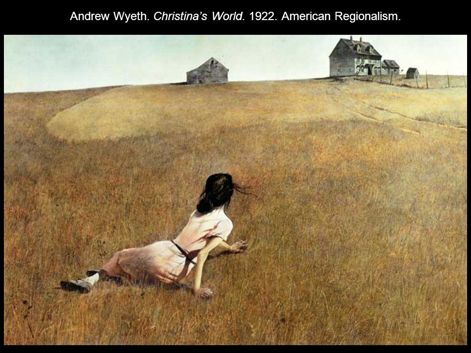 Andrew Wyeth. Christina's World. 1922. American Regionalism.