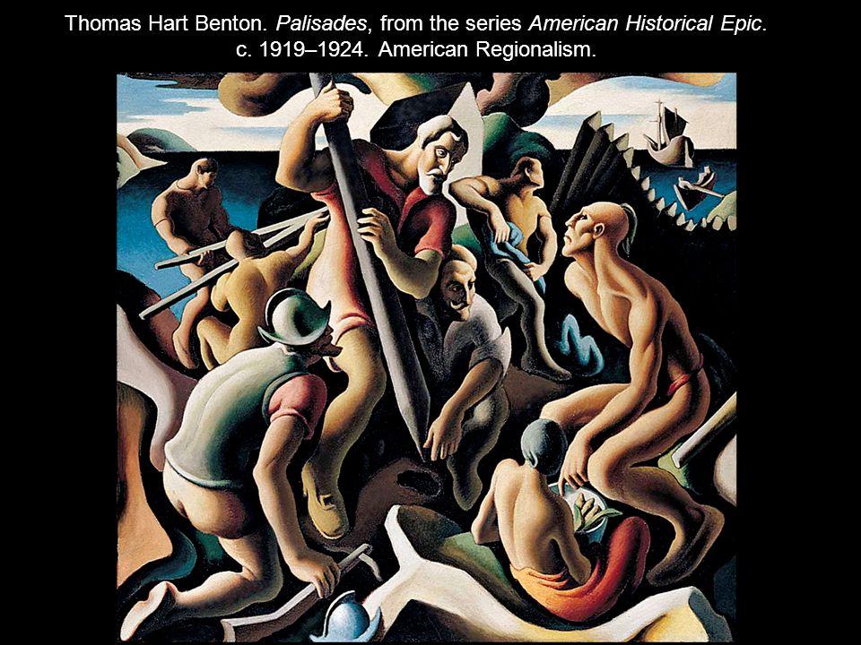 Thomas Hart Benton.Palisades, from the series American Historical Epic.