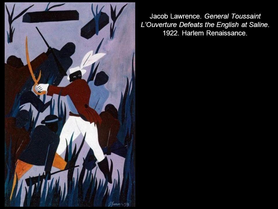 Jacob Lawrence.General Toussaint L'Ouverture Defeats the English at Saline.