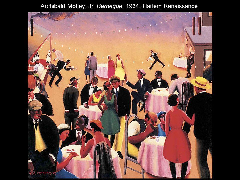 Archibald Motley, Jr. Barbeque. 1934. Harlem Renaissance.