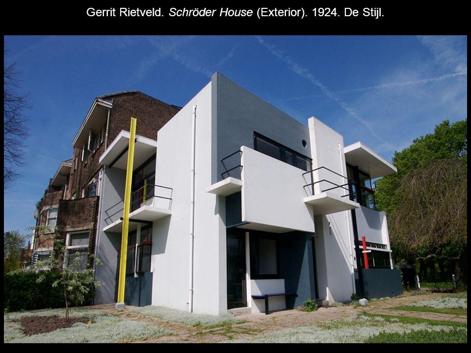 Gerrit Rietveld. Schröder House (Exterior). 1924. De Stijl.