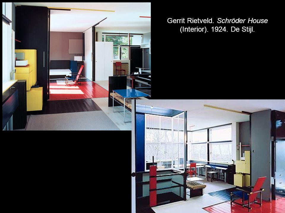 Gerrit Rietveld. Schröder House (Interior). 1924. De Stijl.
