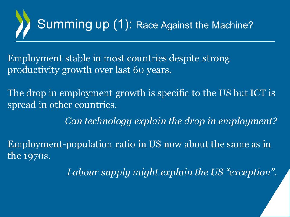 Summing up (1): Race Against the Machine.