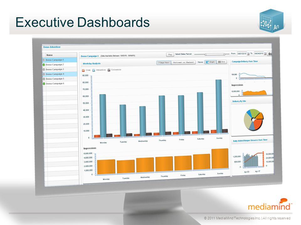 © 2011 MediaMind Technologies Inc. | All rights reserved Executive Dashboards