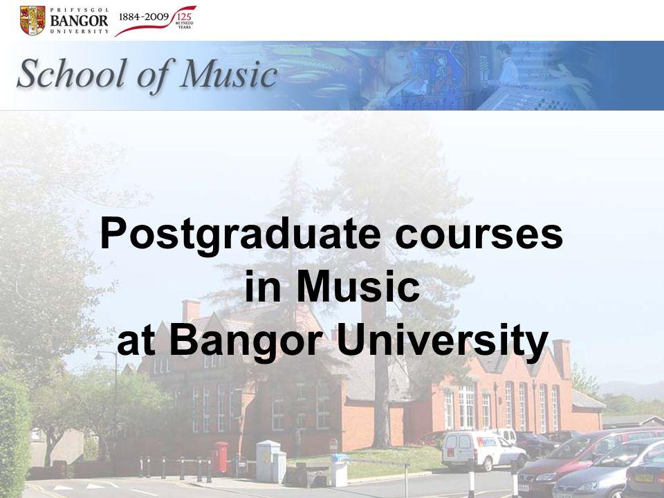 Postgraduate courses in Music at Bangor University