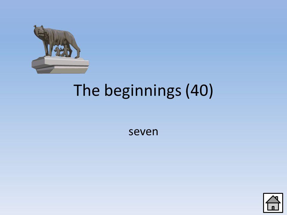 The beginnings (20) Romulus