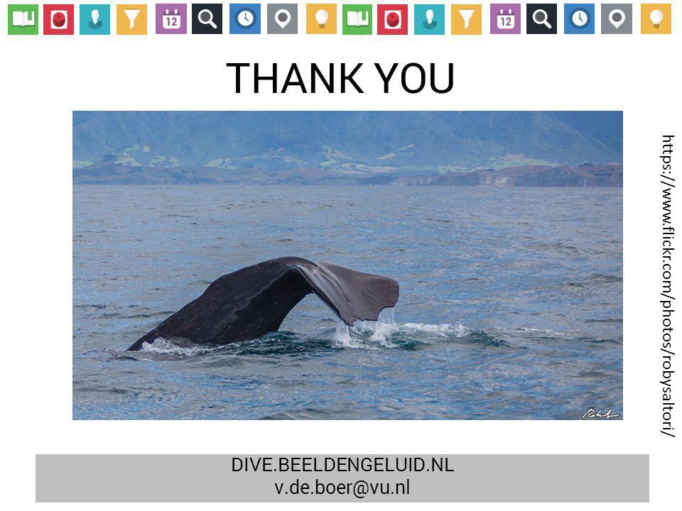 THANK YOU https://www.flickr.com/photos/robysaltori/ DIVE.BEELDENGELUID.NL v.de.boer@vu.nl
