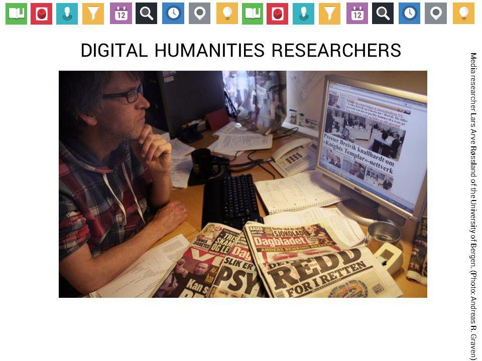 DIGITAL HUMANITIES RESEARCHERS Media researcher Lars Arve Røssland of the University of Bergen.