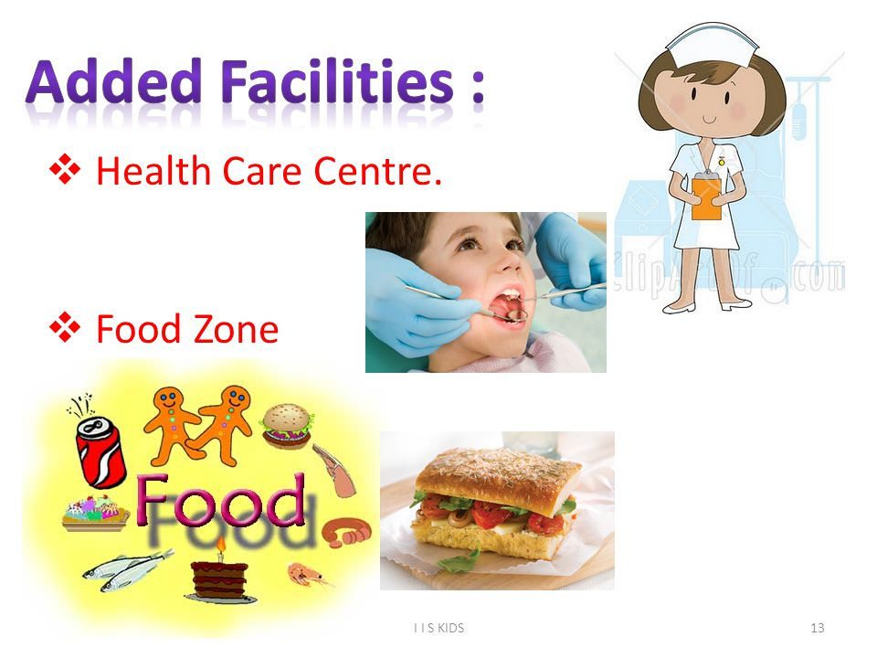 13  Health Care Centre.  Food Zone