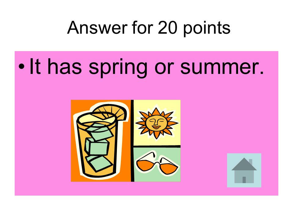 20 points When the northern hemisphere is pointed toward the sun, what seasons does it have?