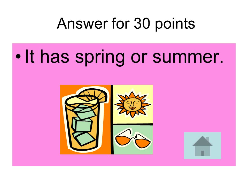 30 points When the northern hemisphere is tilted away from the sun, what seasons does the southern hemisphere have?