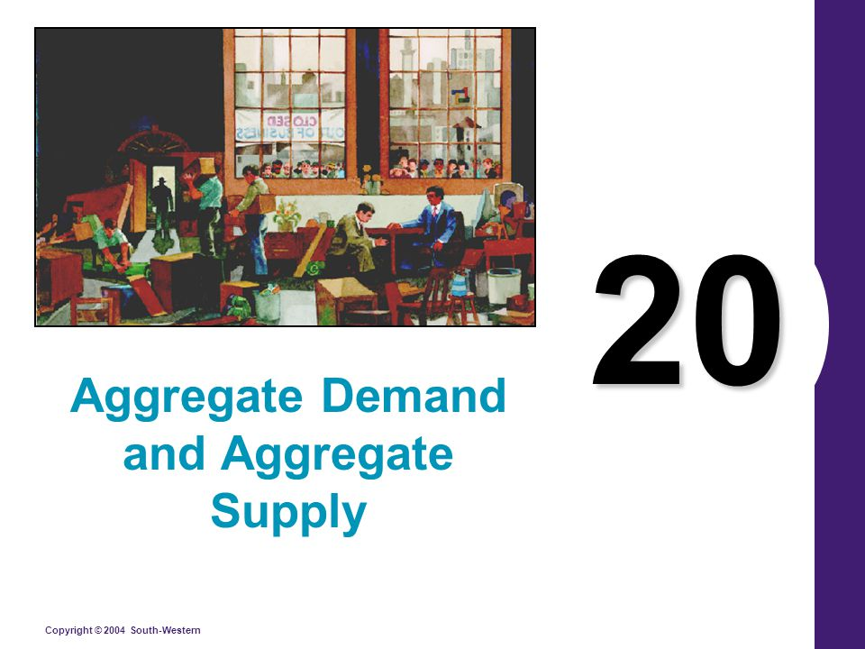 Copyright © 2004 South-Western Why the Aggregate-Demand Curve Might Shift The downward slope of the aggregate demand curve shows that a fall in the price level raises the overall quantity of goods and services demanded.
