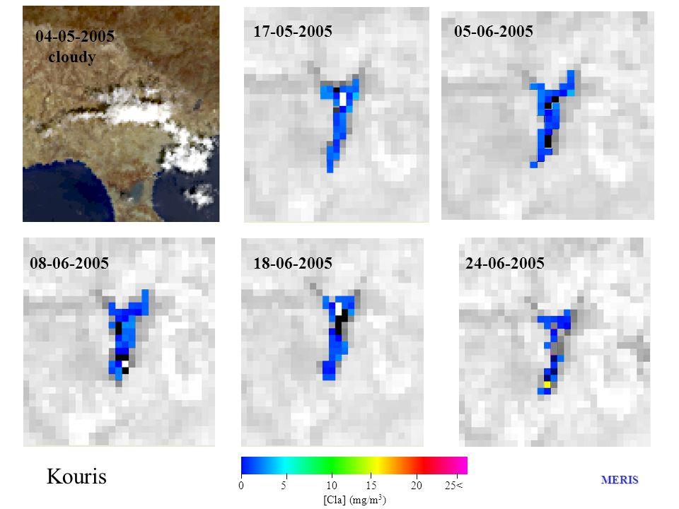04-05-2005 cloudy 17-05-2005 0 5 10 15 20 25< [Cla] (mg/m 3 ) Kouris MERIS 05-06-2005 08-06-200518-06-200524-06-2005