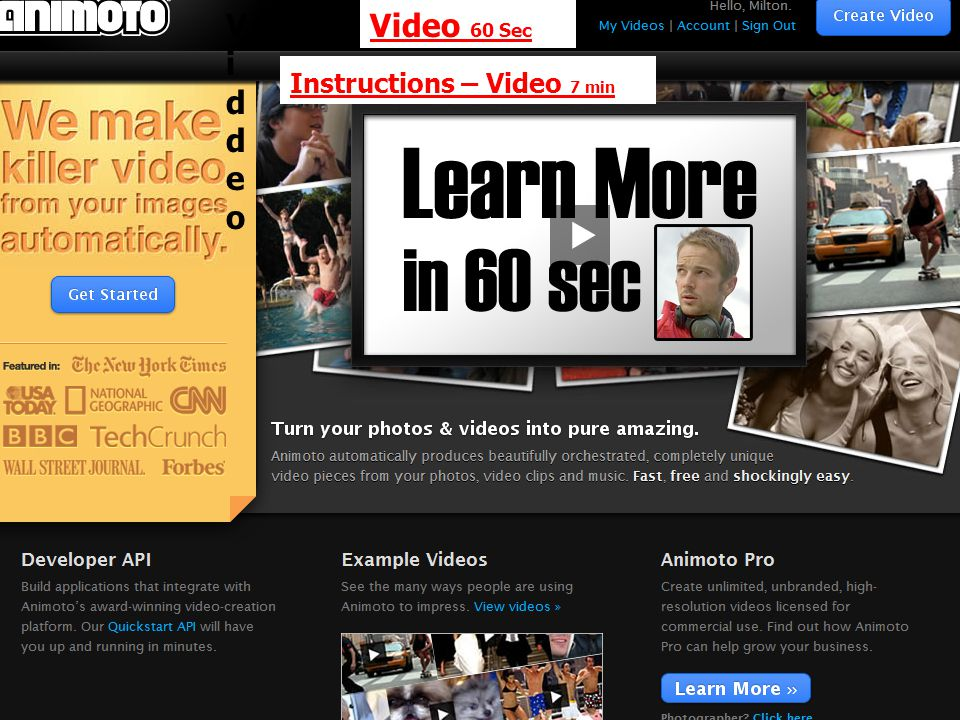 ViddeoViddeo Video 60 Sec Instructions – Video 7 min