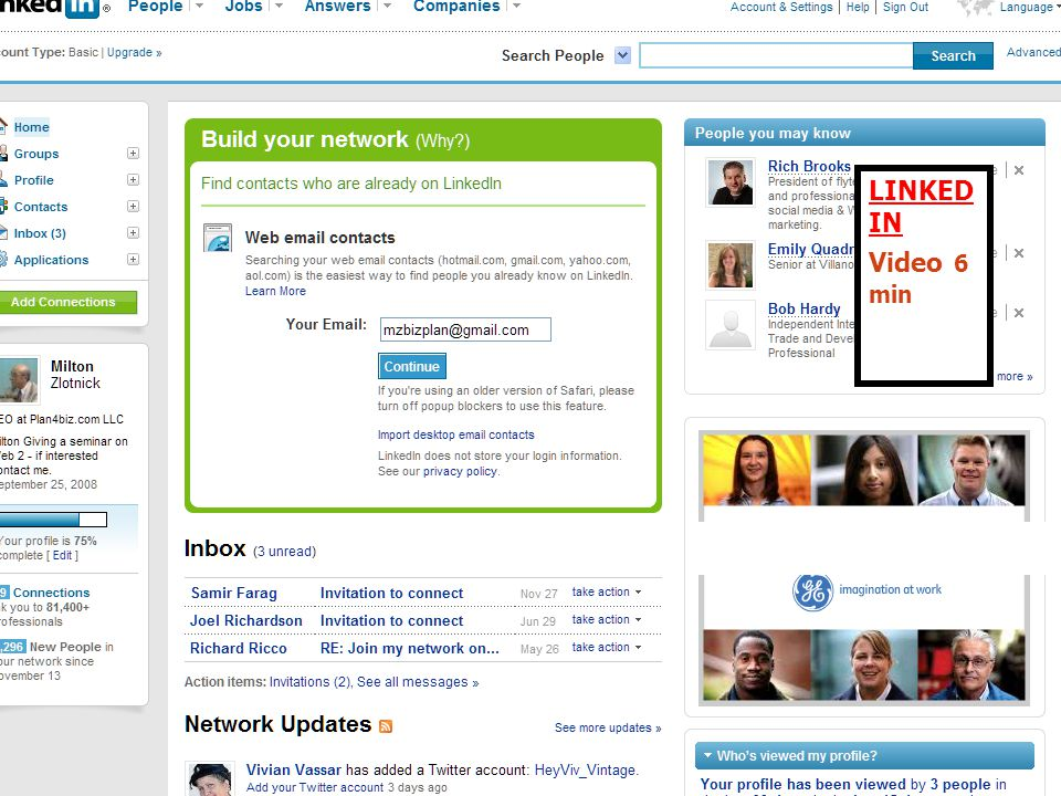 LINKED IN LINKED IN Video 6 min