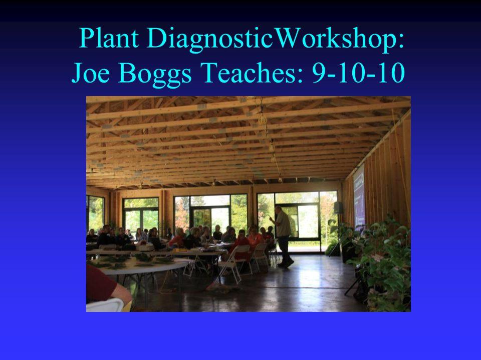 Plant DiagnosticWorkshop: Joe Boggs Teaches: 9-10-10