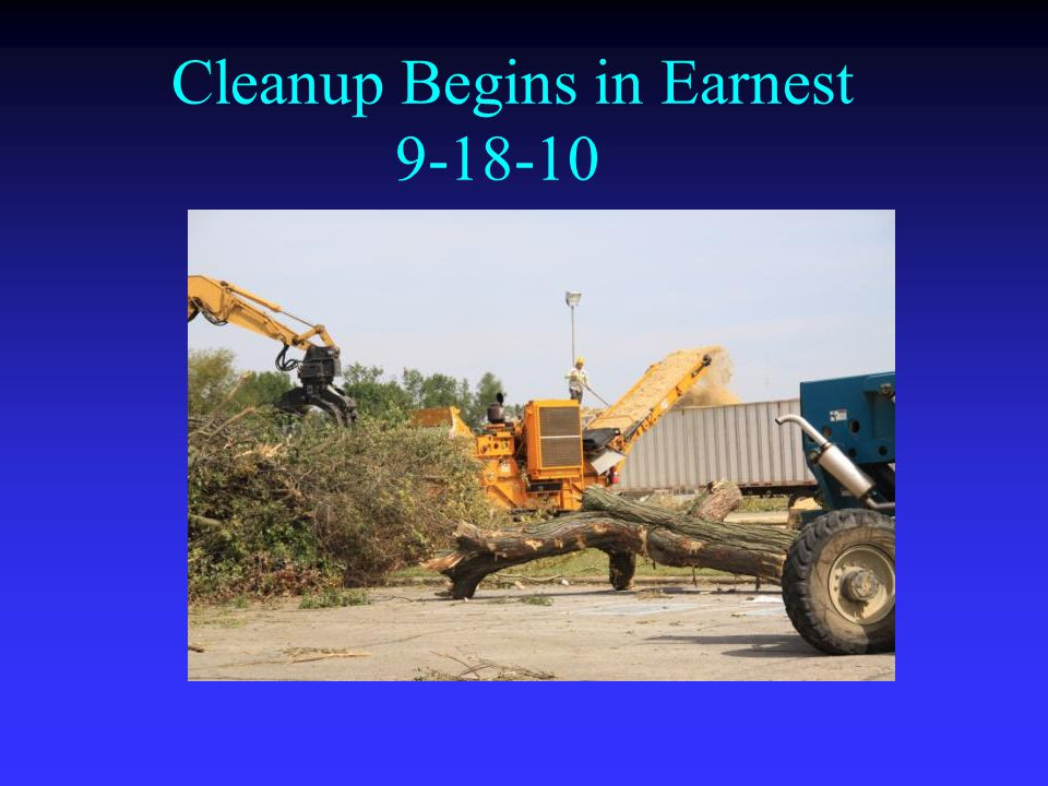 Cleanup Begins in Earnest 9-18-10
