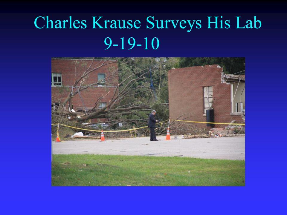 Charles Krause Surveys His Lab 9-19-10