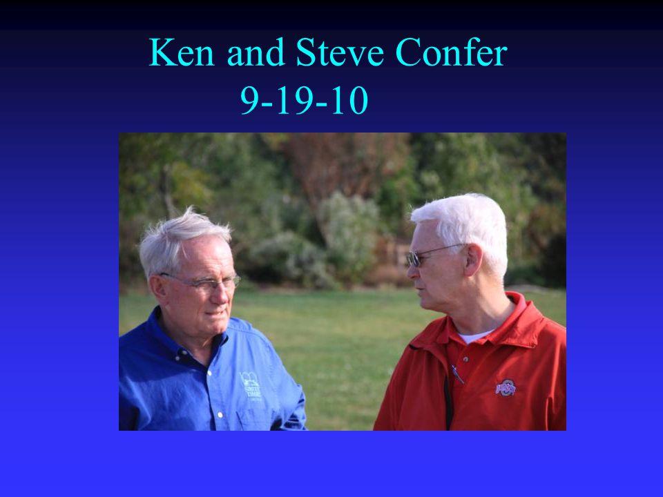 Ken and Steve Confer 9-19-10