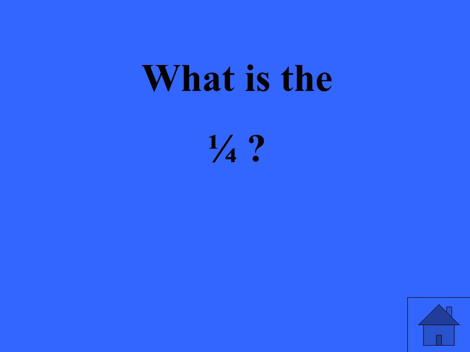 What is the ¼