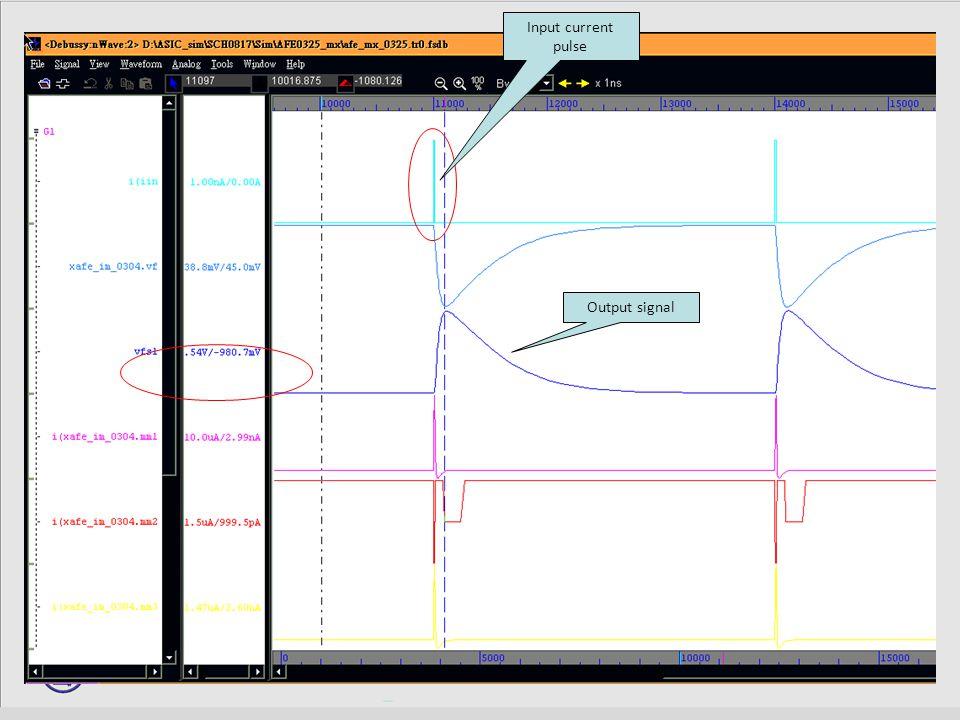 13 Input current pulse Output signal