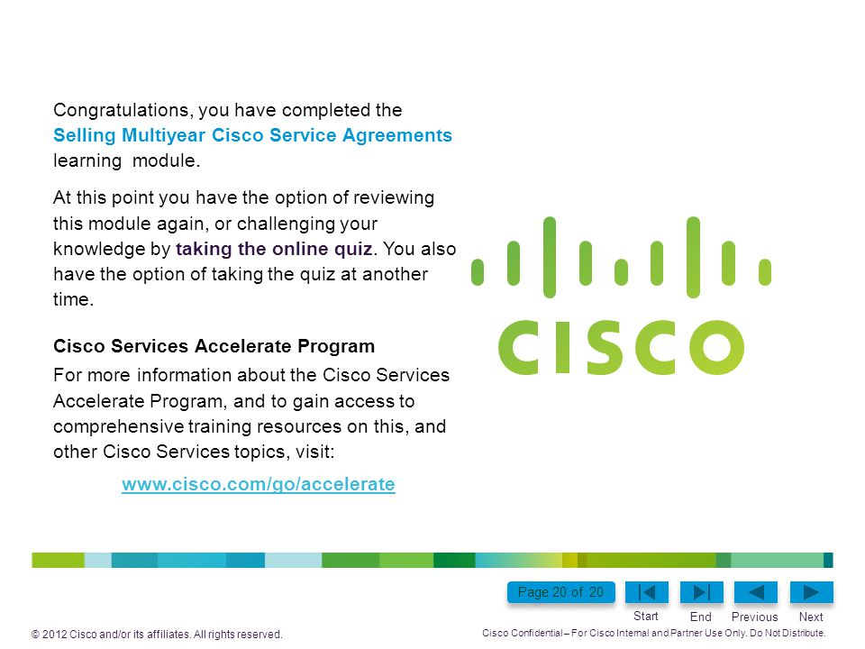 Cisco Confidential – For Cisco Internal and Partner Use Only.