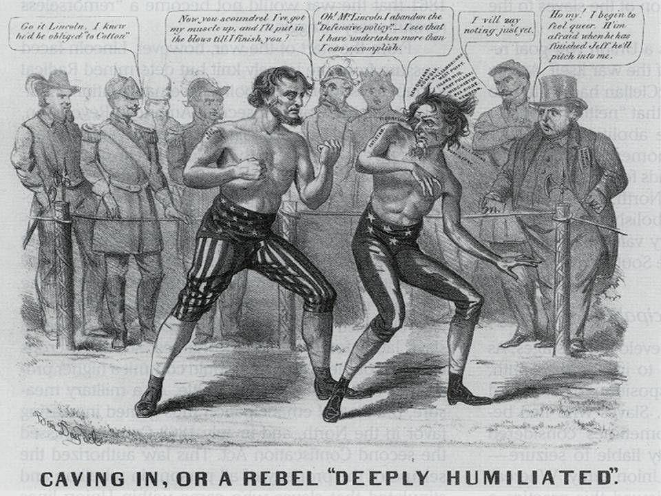 Cartoon: Lincoln vs Davis