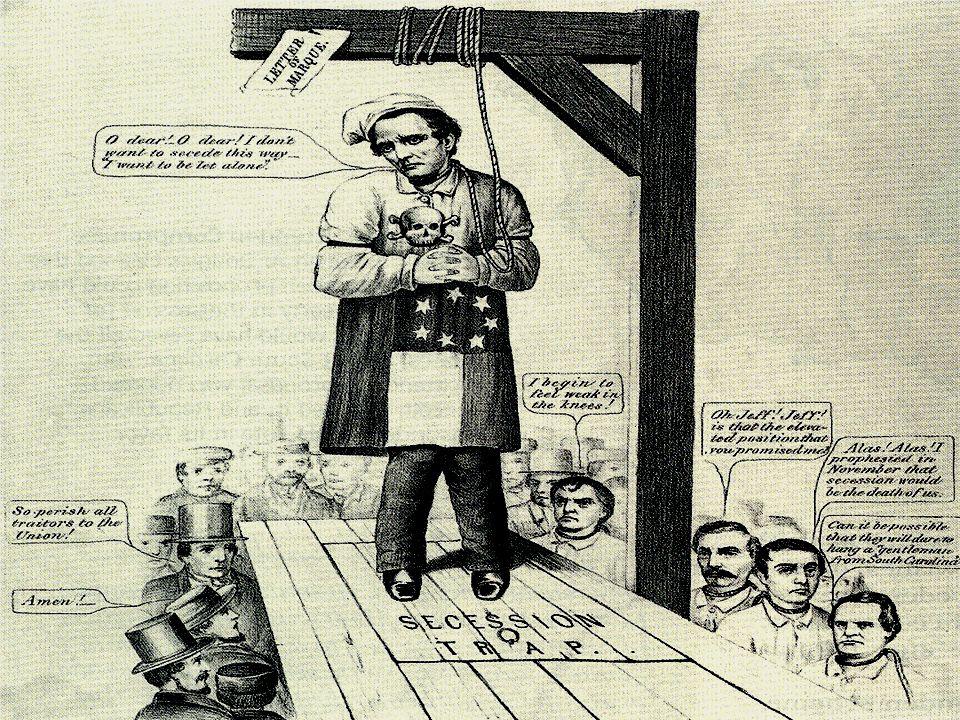 Cartoon: Davis hanging himself