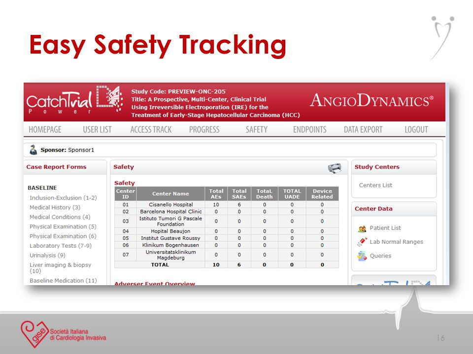 Easy Safety Tracking 16